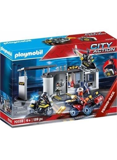 Playmobil Şlaymobil 70338 City Action - Elite Şolice Transşortable Headquarters Renkli